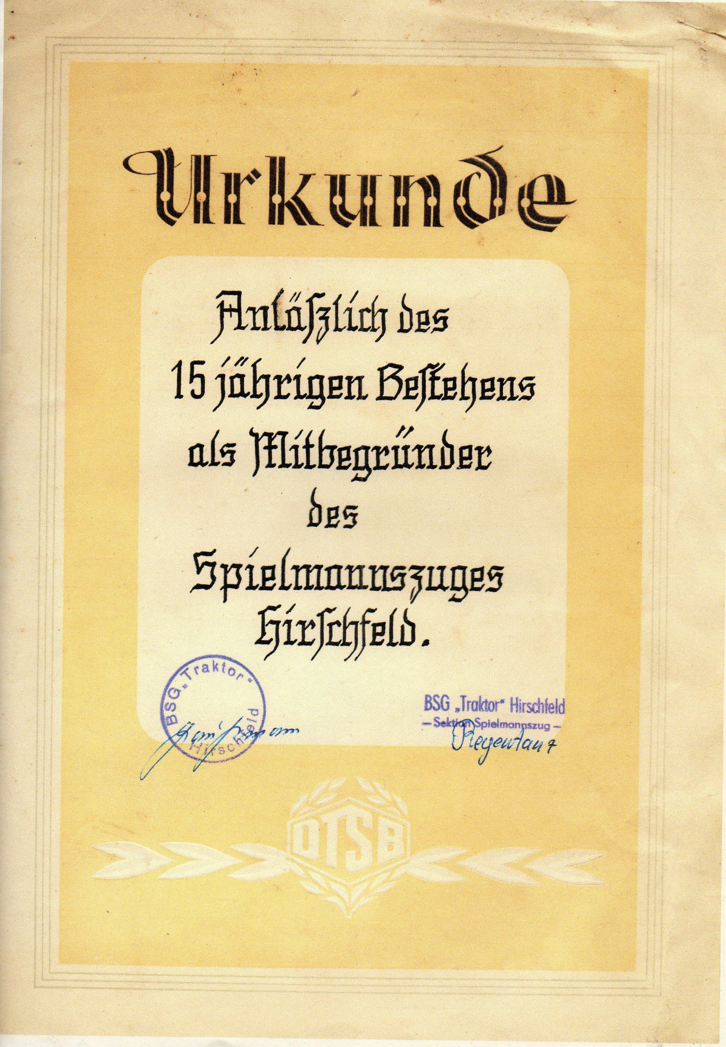 1963 15 Jahre SZ