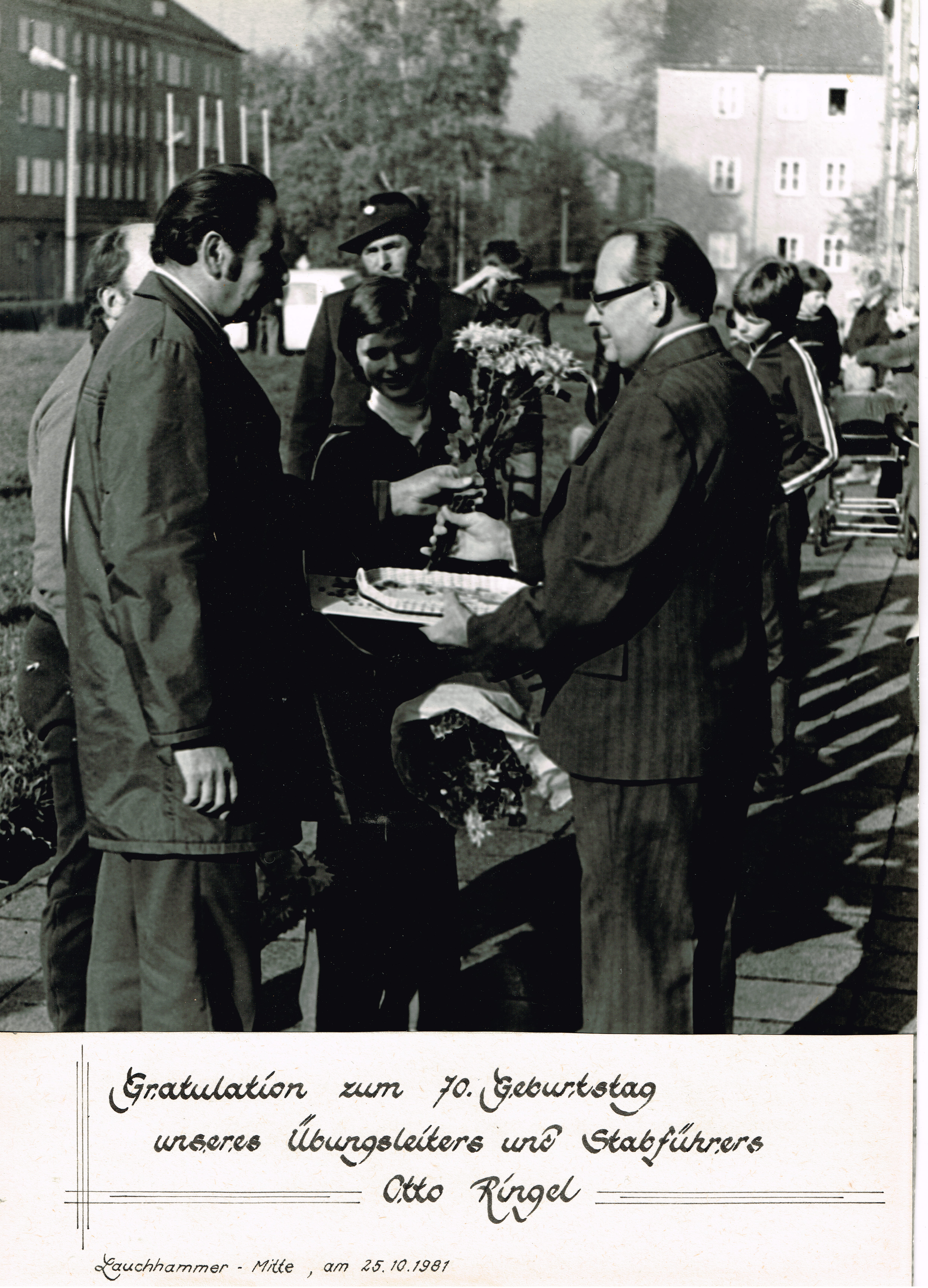 1981 Otto Ringel 70. Geburtstag 1981