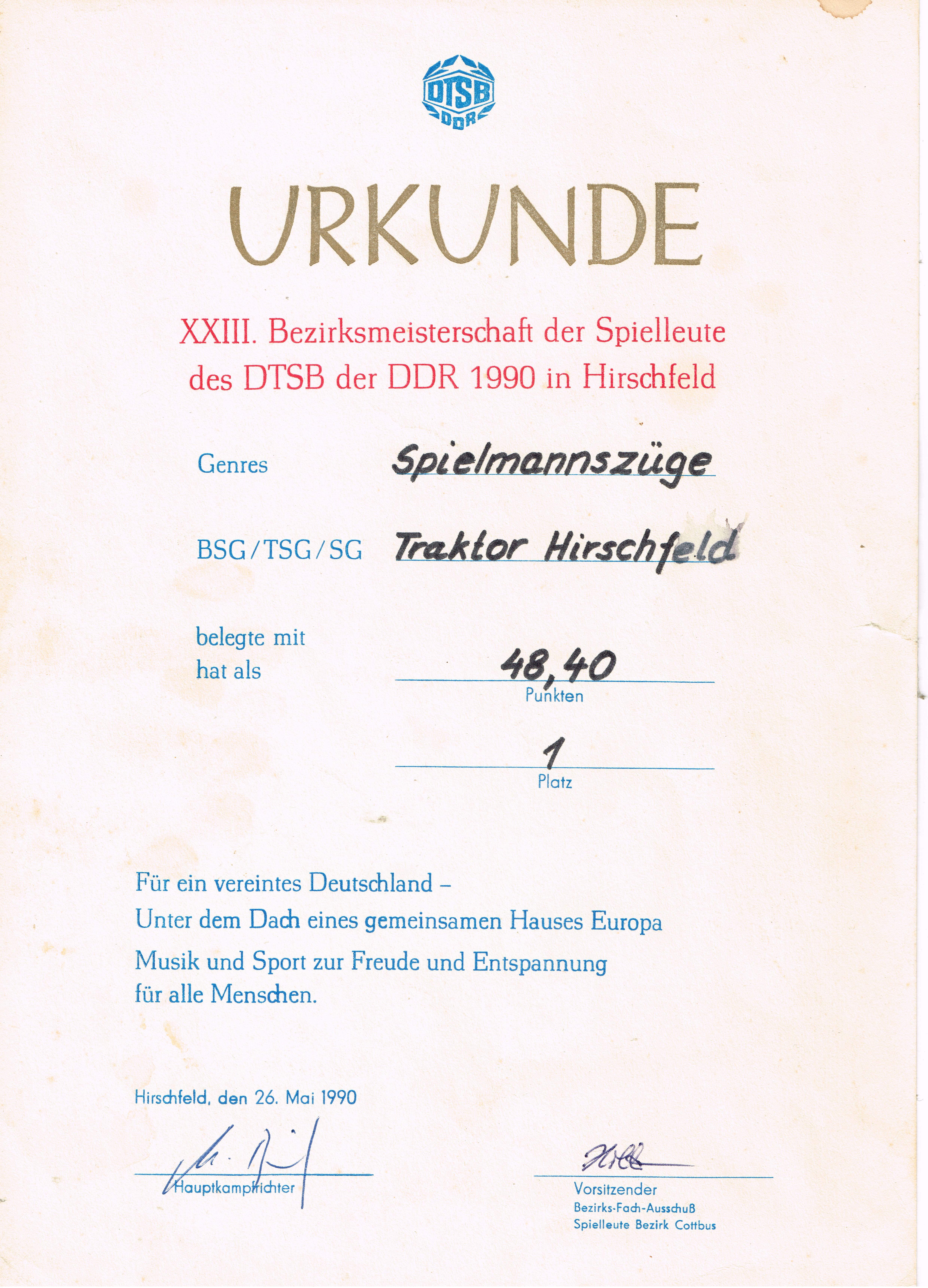 1990 Bezirksmeisterschaft Erwachsene 1990 Hirschfeld